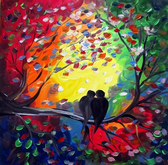 Art: SUNSET WITH YOU by Artist LUIZA VIZOLI