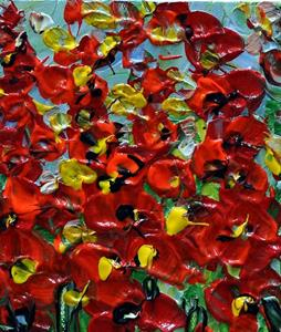 Detail Image for art RED SMALL WILDFLOWERS