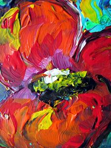 Detail Image for art RED POPPY -ACEO