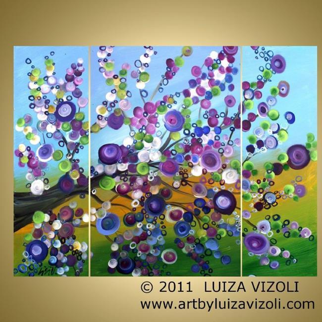 Art: LILAC BLOSSOM by Artist LUIZA VIZOLI