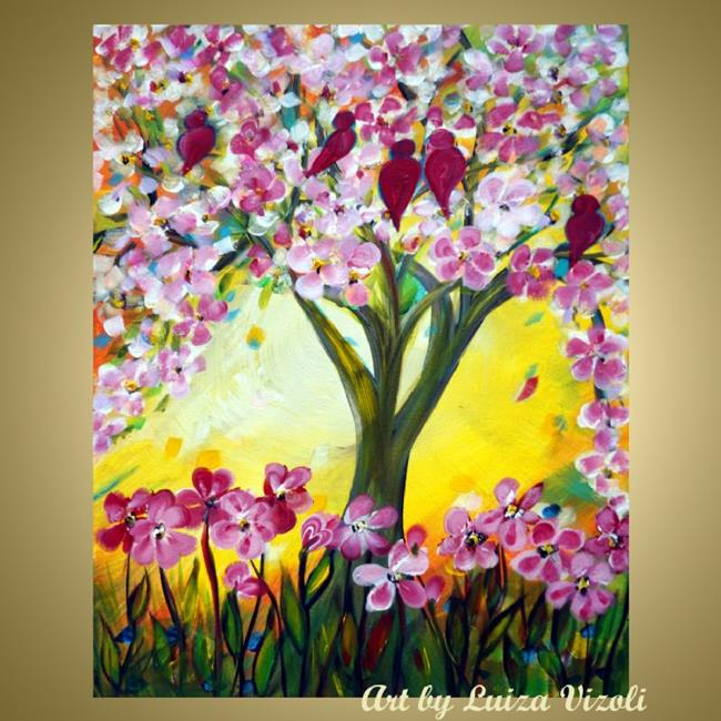 Happy spring music by luiza vizoli from original for Spring canvas paintings
