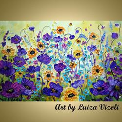 Art: PURPLE WILDFLOWERS by Artist LUIZA VIZOLI