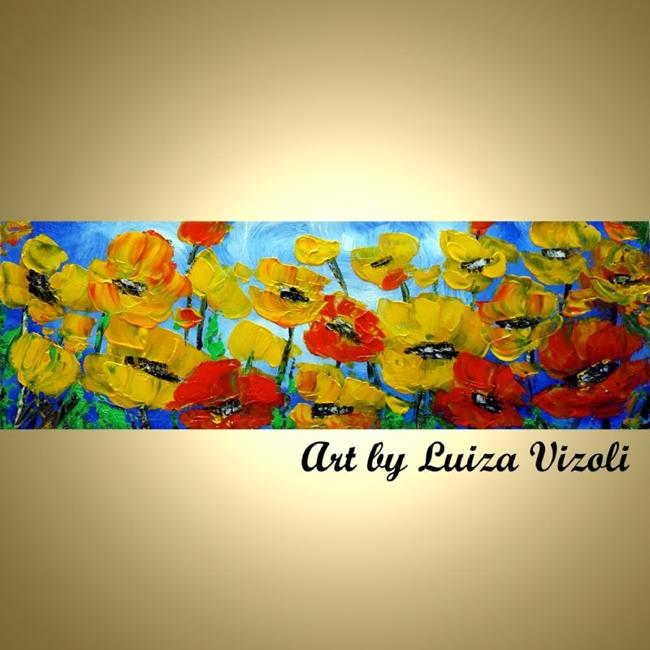Art: YELLOW POPPY FLOWERS by Artist LUIZA VIZOLI