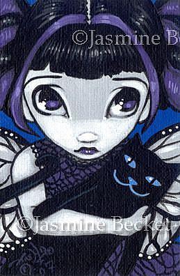 Art: Loving My Kitty OSWOA™ by Artist Jasmine Ann Becket-Griffith
