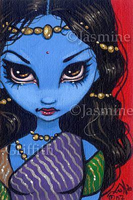 Art: Little Hindu Beauty OSWOA™ by Artist Jasmine Ann Becket-Griffith