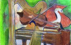 Art: Music Takes Wing by Artist Judith A Brody