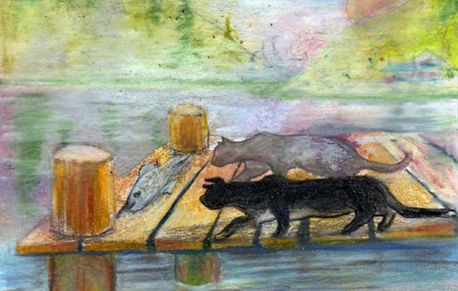 Art: Little Cat Feet by Artist Judith A Brody