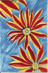 Art: Aztec Queen original OSWOA painting by Artist Nancy Denommee
