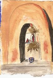 Art: Prayer Niche in Santa Fe OSWOA by Artist Nancy Denommee