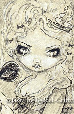 Art Marie Masquerade Drawing OSWOATM By Artist Jasmine Ann Becket Griffith