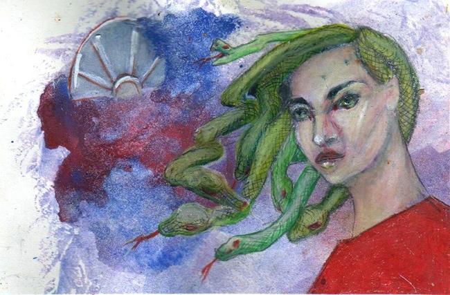 Art: Medusa by Artist Judith A Brody