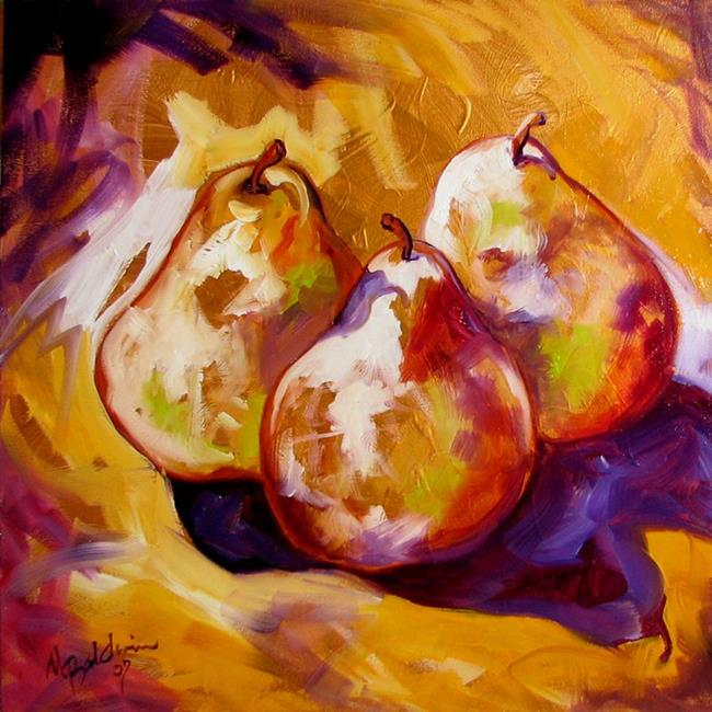 Art: PEARS ON GOLD by Artist Marcia Baldwin