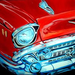 Art: 57 CHEVY CLASSIC by Artist Marcia Baldwin