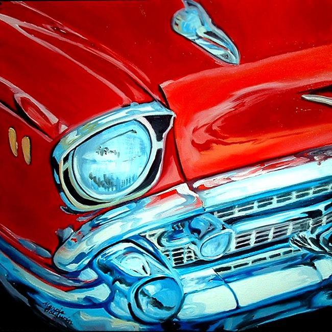 Art: 57 CHEVY CLASSIC by Artist Marcia Baldwin