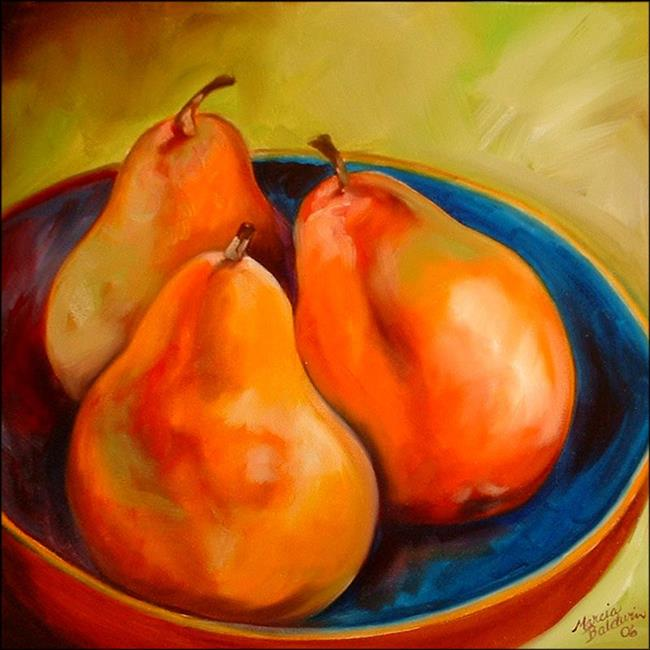 Art: PEARS THREE by Artist Marcia Baldwin