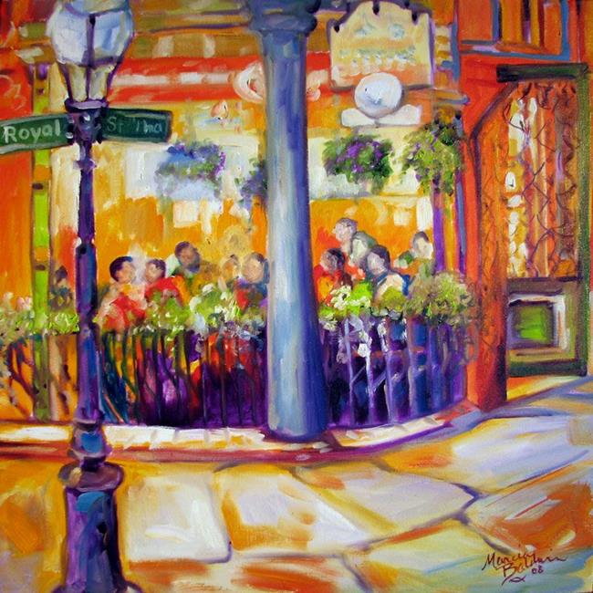 Art: NEW ORLEANS ROYAL ST EATERY by Artist Marcia Baldwin