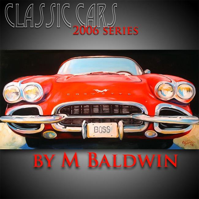 Art: CORVETTE CLASSIC II by Artist Marcia Baldwin