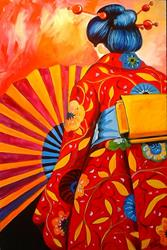 Art: ASIAN DRESS by Artist Marcia Baldwin