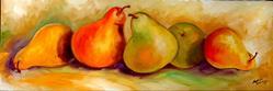 Art: TUSCANY PEAR ROW by Artist Marcia Baldwin