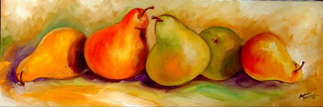 Art: TUSCANY PEAR ROW by Artist Marcia Baldwin