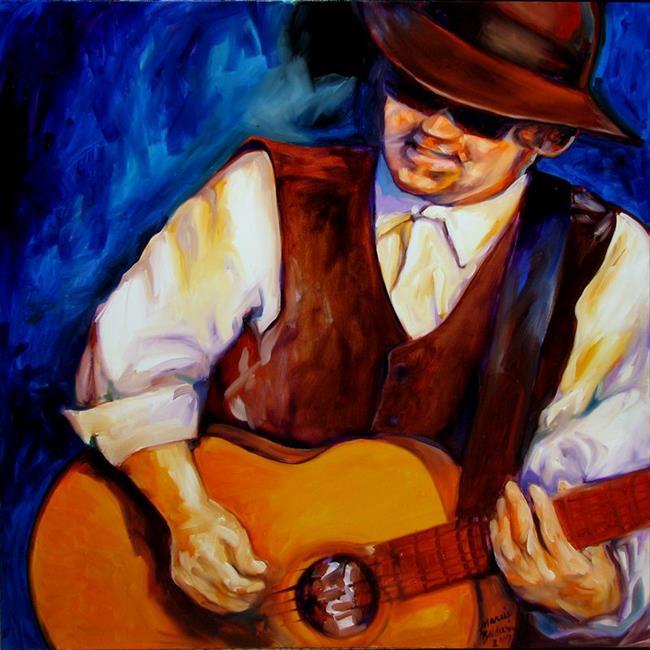 Art: BLUES MAN by Artist Marcia Baldwin