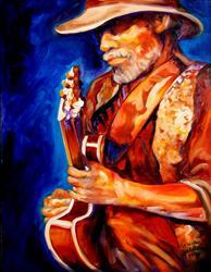 Art: GUITAR MAN by Artist Marcia Baldwin