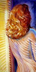 Art: NUDE NEAR WINDOW by Artist Marcia Baldwin