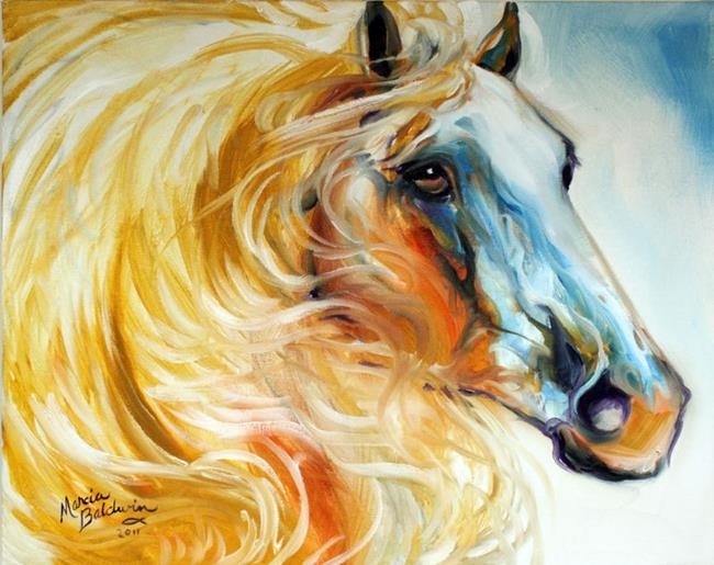 Art: ANGEL WINGS EQUINE 2016 by Artist Marcia Baldwin