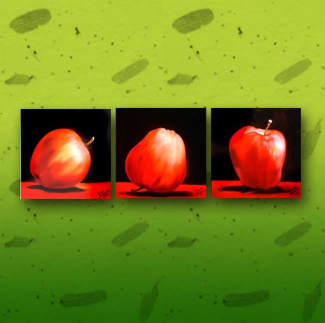 Art: Apples Times Three by Artist Marcia Baldwin