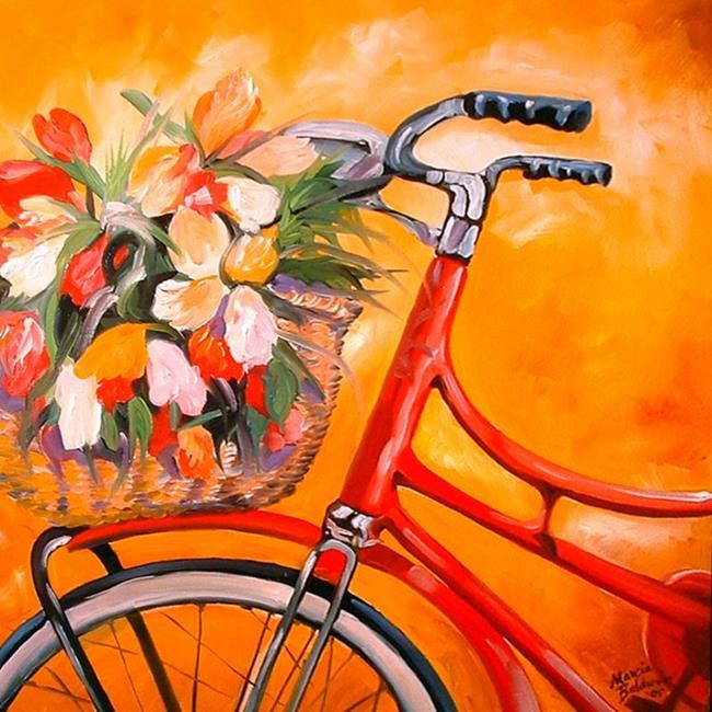 Art: FLOWERS IN TUSCANY by Artist Marcia Baldwin