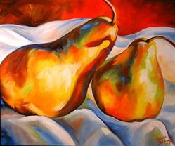 Art: PEAR SHADOWS by Artist Marcia Baldwin