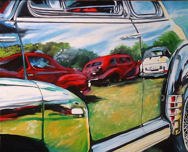Reflections on a car show by marcia baldwin from other for What are the steps to painting a car