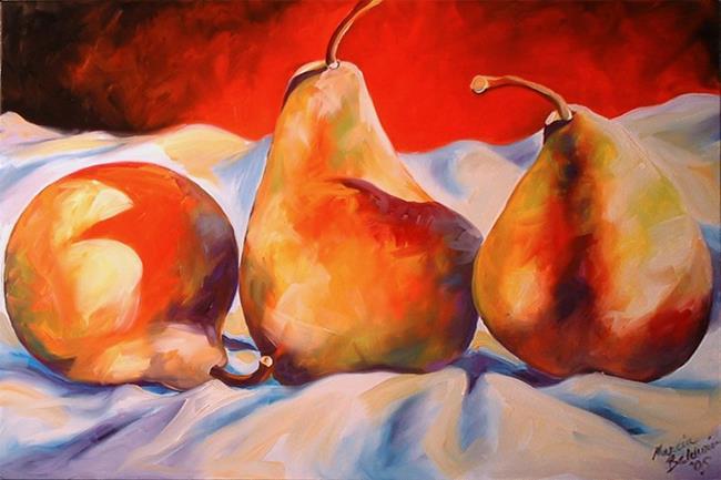 Art: PEAR SHADOWS THREE by Artist Marcia Baldwin