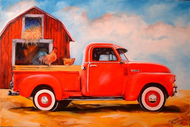 Art: My Chevy Truck by Artist Marcia Baldwin