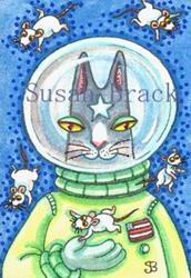 Art: HISS N' Fitz - MICE FLOAT IN SPACE by Artist Susan Brack