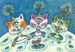Art: MOON KITTENS by Artist Susan Brack