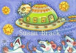 Art: INVADERS FROM PLANET FELINUS by Artist Susan Brack
