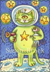 Art: PURR FROM OUTER SPACE by Artist Susan Brack