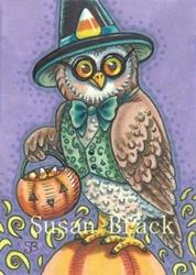 Art: LOOKING FOR TRICKS AND TREATS by Artist Susan Brack