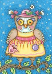 Art: LITTLE OWLIVIA by Artist Susan Brack