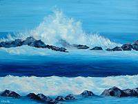 Art: Deep Blue Sea Blue Dream by Artist Lindi Levison