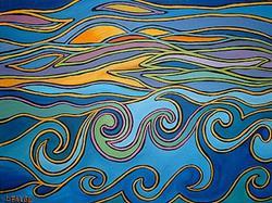 Art: Ocean, Motion, Sensation, Celebration by Artist Lindi Levison