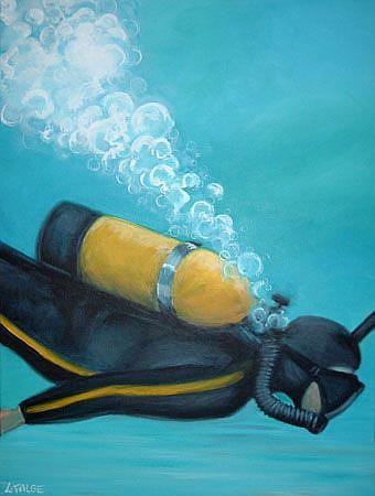 Art: The Scuba Diver by Artist Lindi Levison