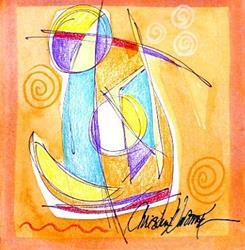 Art: Sail Away by Artist Christine Wasankari