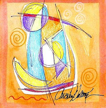 Art: Sail Away by Artist Christine Wasankari