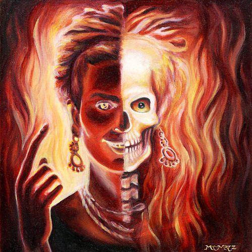 Art: Frida in Flames by Artist Madeline  Carol Matz