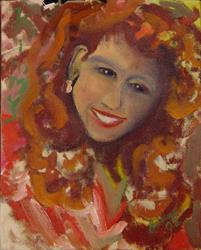 Art: Portrait of Kim McLaughlin by Artist Caroline Lassovszky Baker