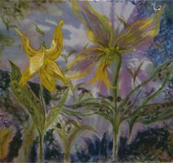 Art: Dog Tooth Violet by Artist Caroline Lassovszky Baker