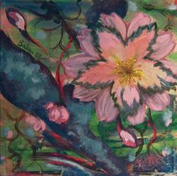 Art: Cherry Blossom by Artist Caroline Lassovszky Baker