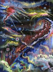 Art: Splashdown by Artist Caroline Lassovszky Baker